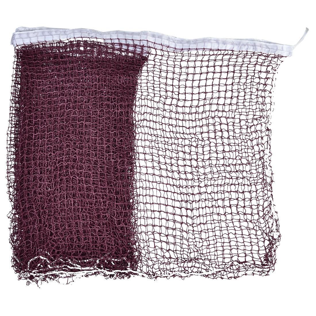 Nylon Braided Mesh Badminton Shuttlecock Net White Trim Burgundy 6M Long