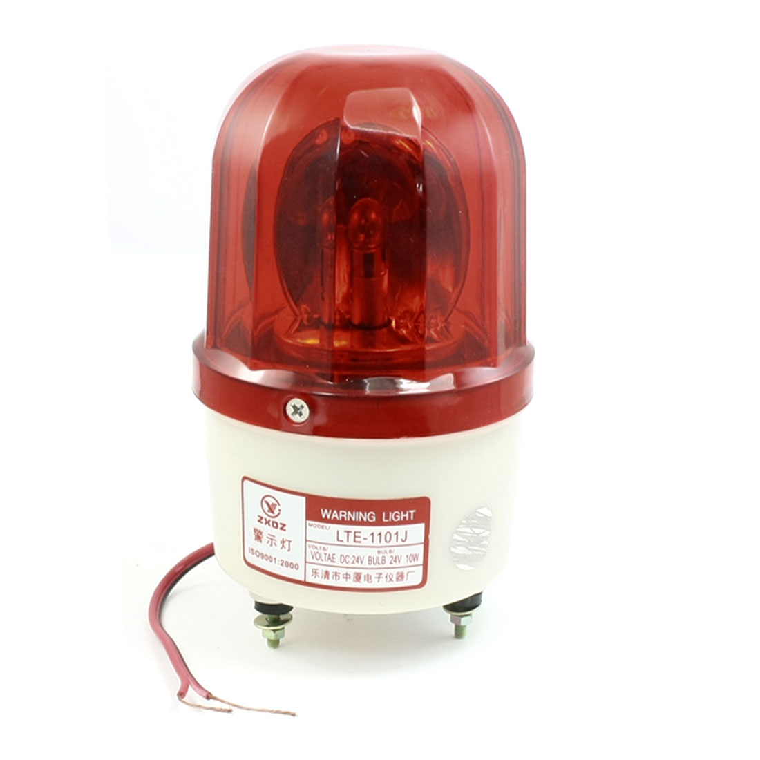 DC 24V 10W Red Rotating Flashing Light Industrial Signal Warning Lamp