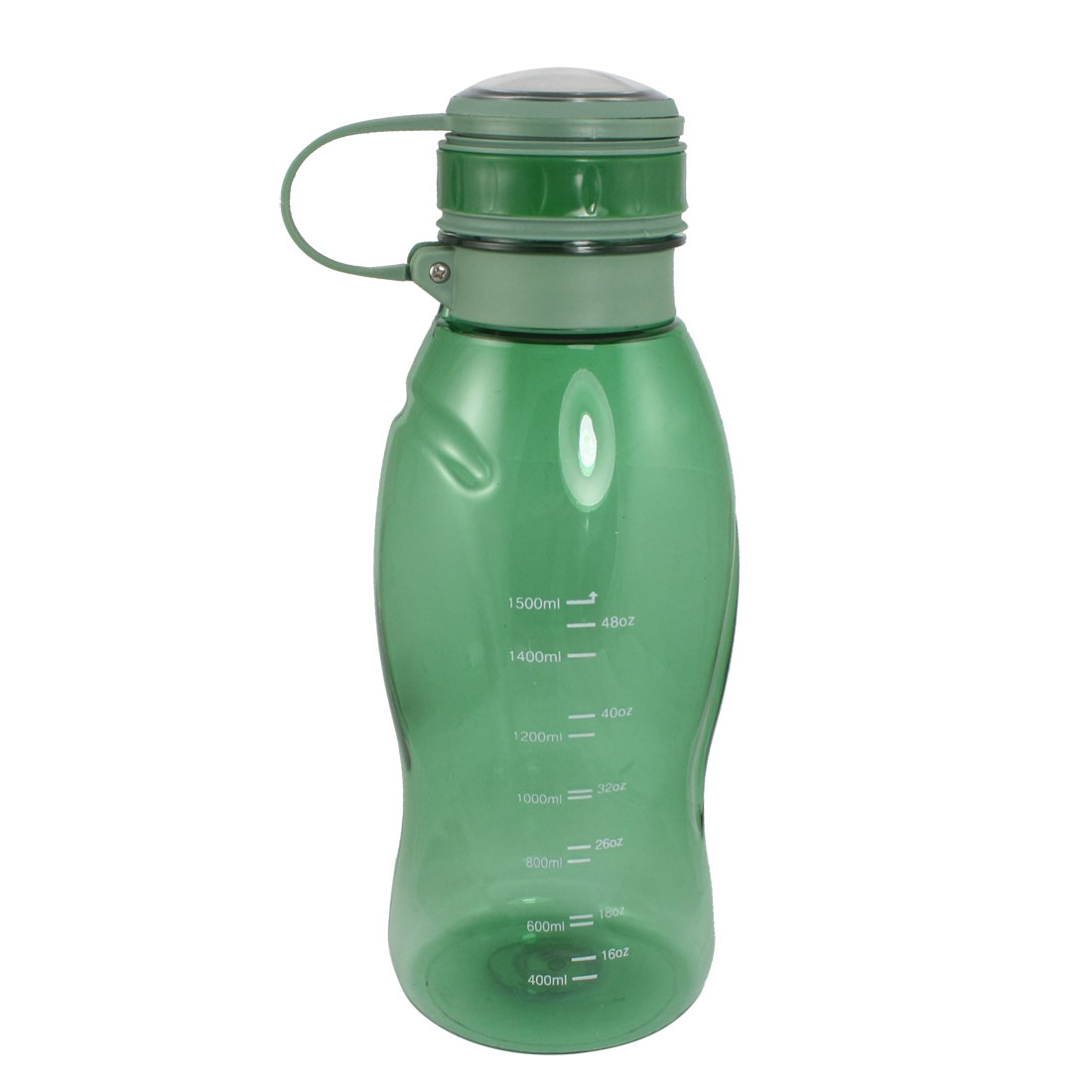 Tea Strainer Design Clear Green Handheld Plastic Sports Water Bottle 1500ml