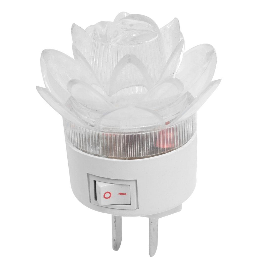 AC 160-250V 1W Home Room Flower Style Red Blue LED Light Night Lamp