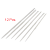 12 Pcs Tailor Silver Tone Pointed Tip Stitching Sewing Needles