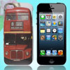 IMD Double Decker Bus Print Plastic Phone Back Shell Protector for iPhone 5 5G