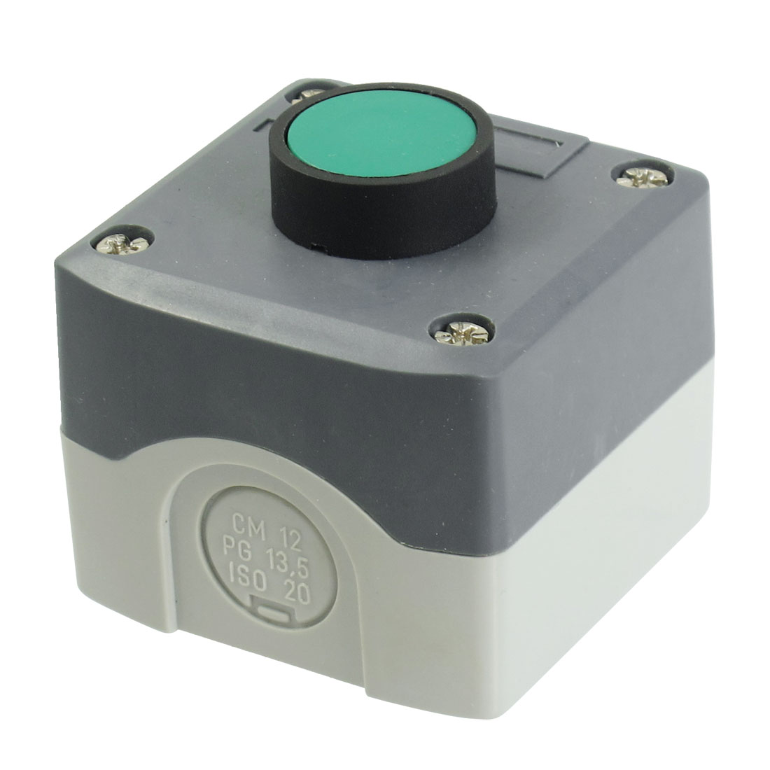 Plastic Shell SPST Momentary Green Flat Push Button Switch 240V 3A