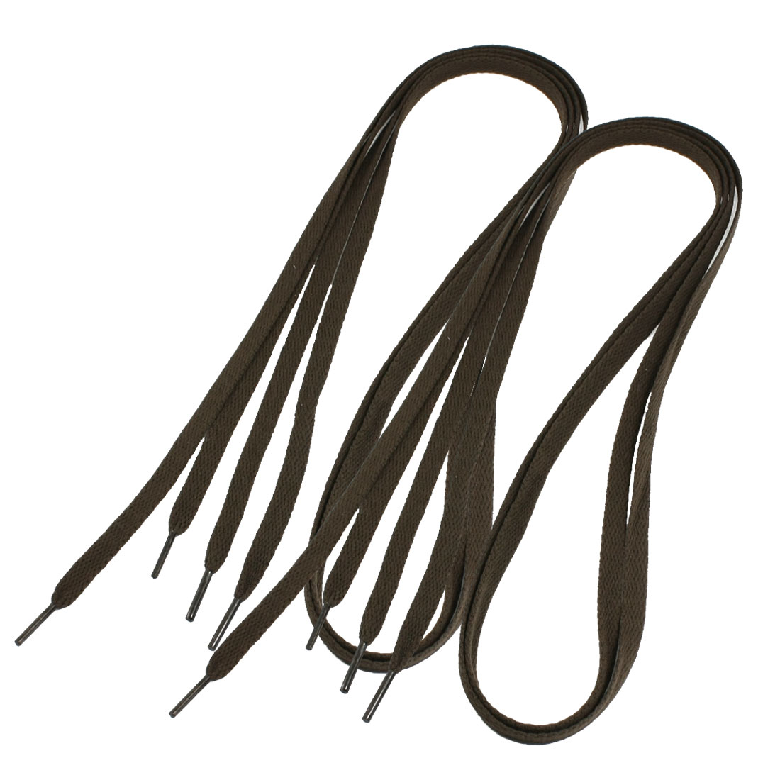Sport Canvas Shoes Sneakers Flat Shoe Laces Shoelaces Brown 2 Pairs