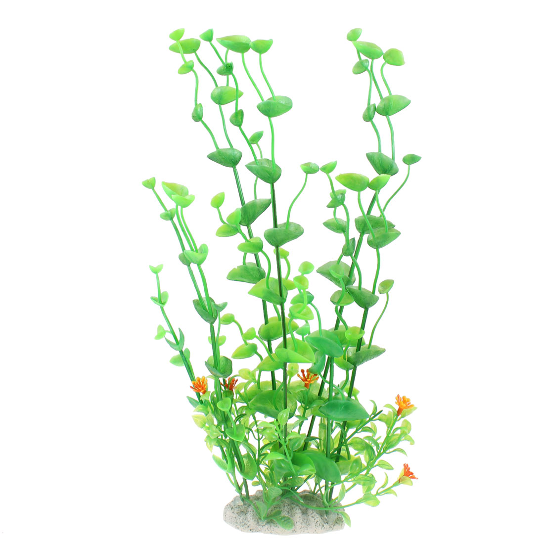 33cm High Green Manmade Shell Shaped Water Grass for Fish Tank Decor