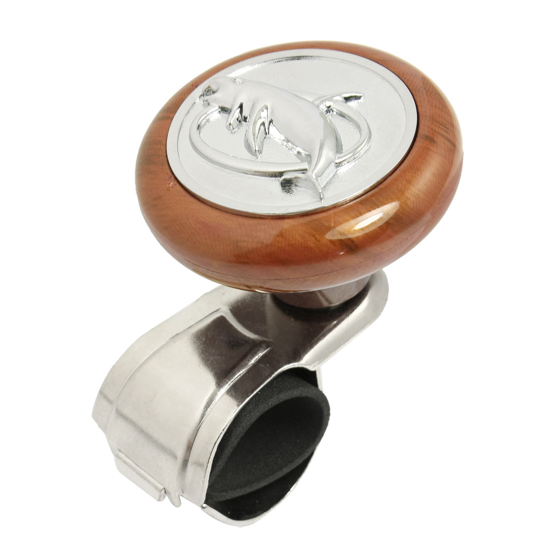 "2.3"" Dia Dolphin Decoration Automobile Steering Wheel Aid Knob Spinner Rosewood"