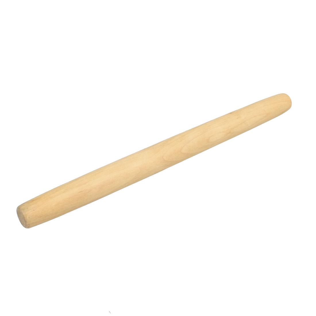 "Restaurant Kitchen Dough Pie Roll Wooden Rolling Pin Holder 15.4"" Long"
