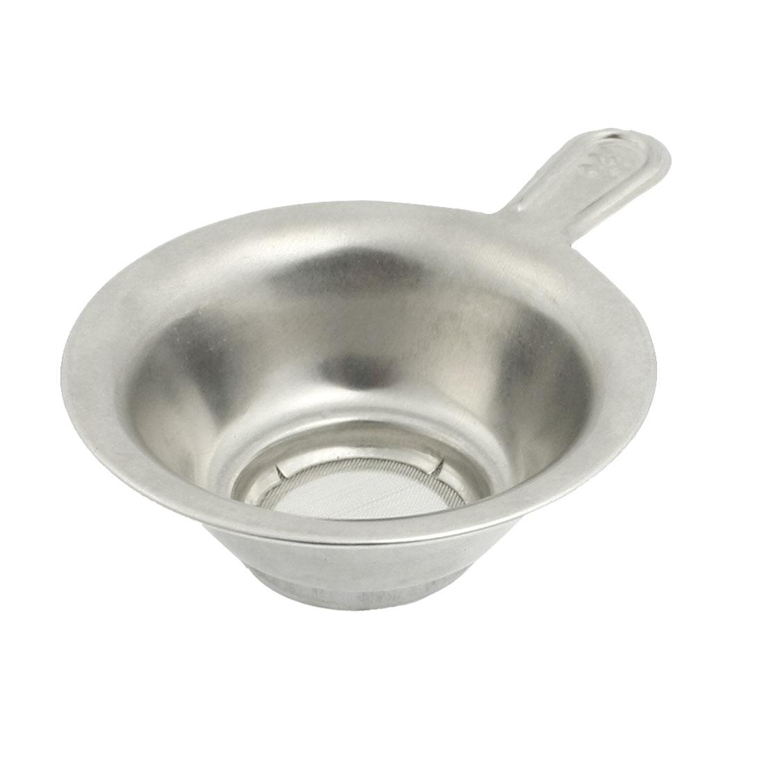 """1.1"""" Depth Meshy Bottom Stainless Steel Tea Bowl Strainer"""