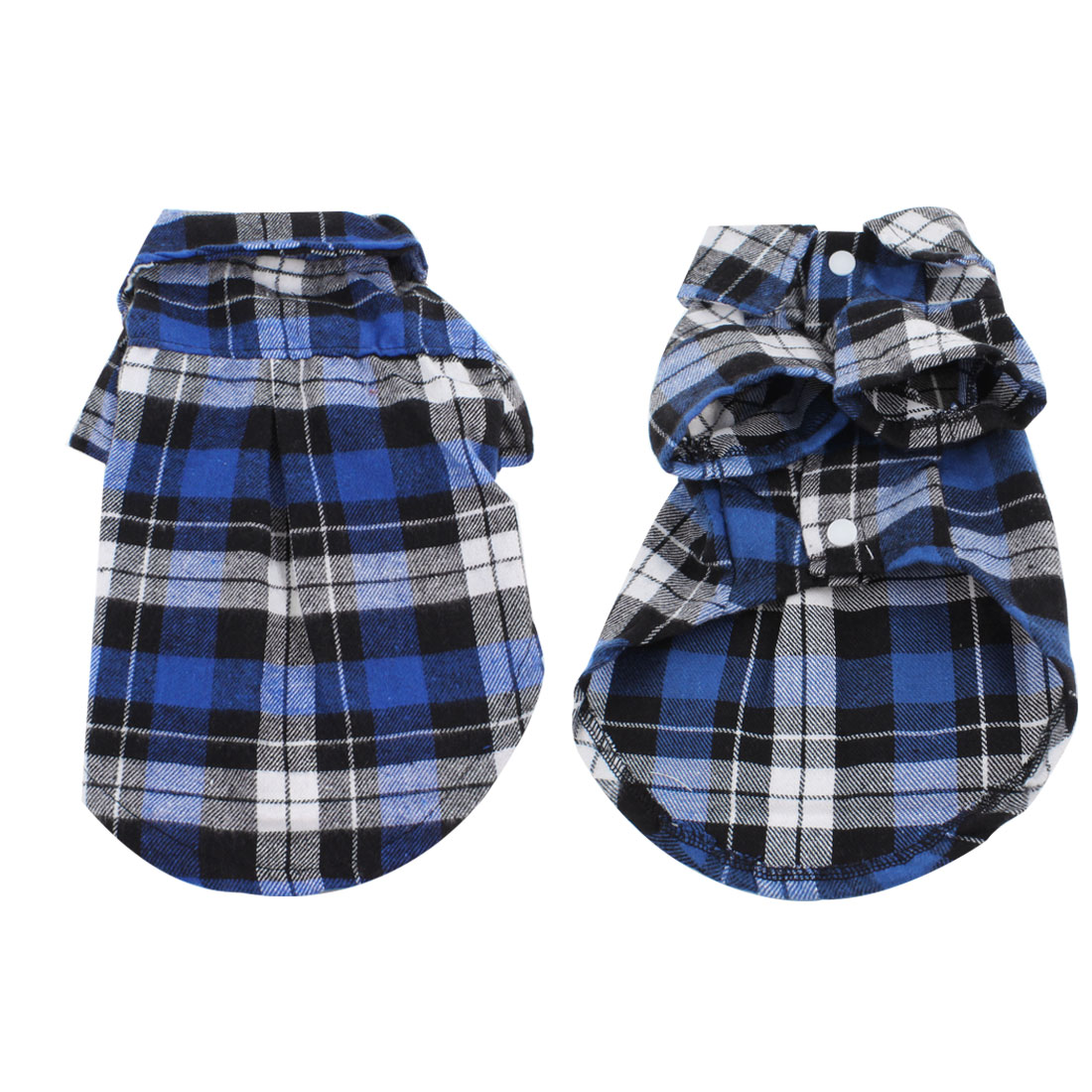 Summer Blue Check Pattern Pet Dog T Shirt Clothes Apparel M