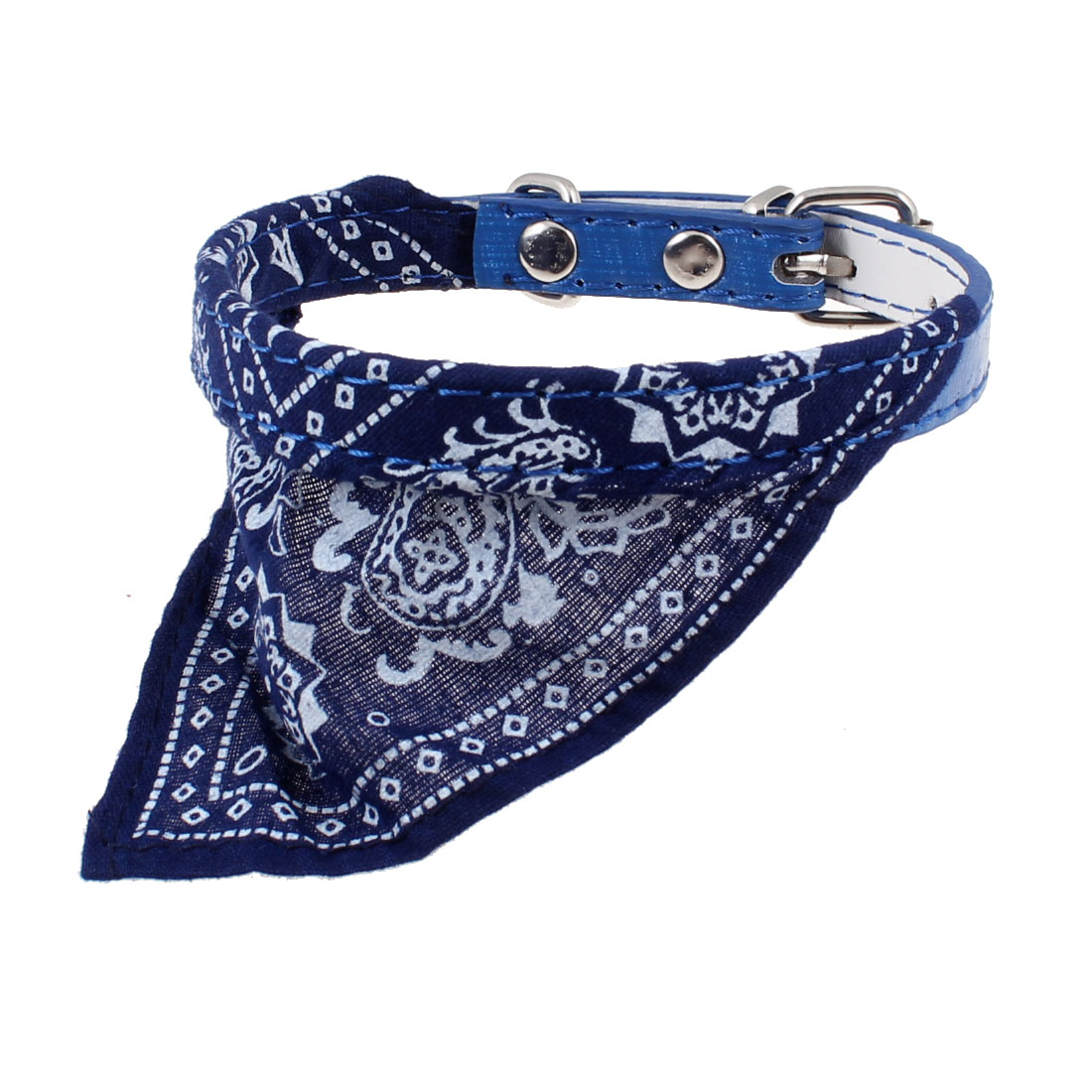 "One Pin 0.4"" Width Adjustable Pet Dog Triangle Bandana Collar Rope Blue"