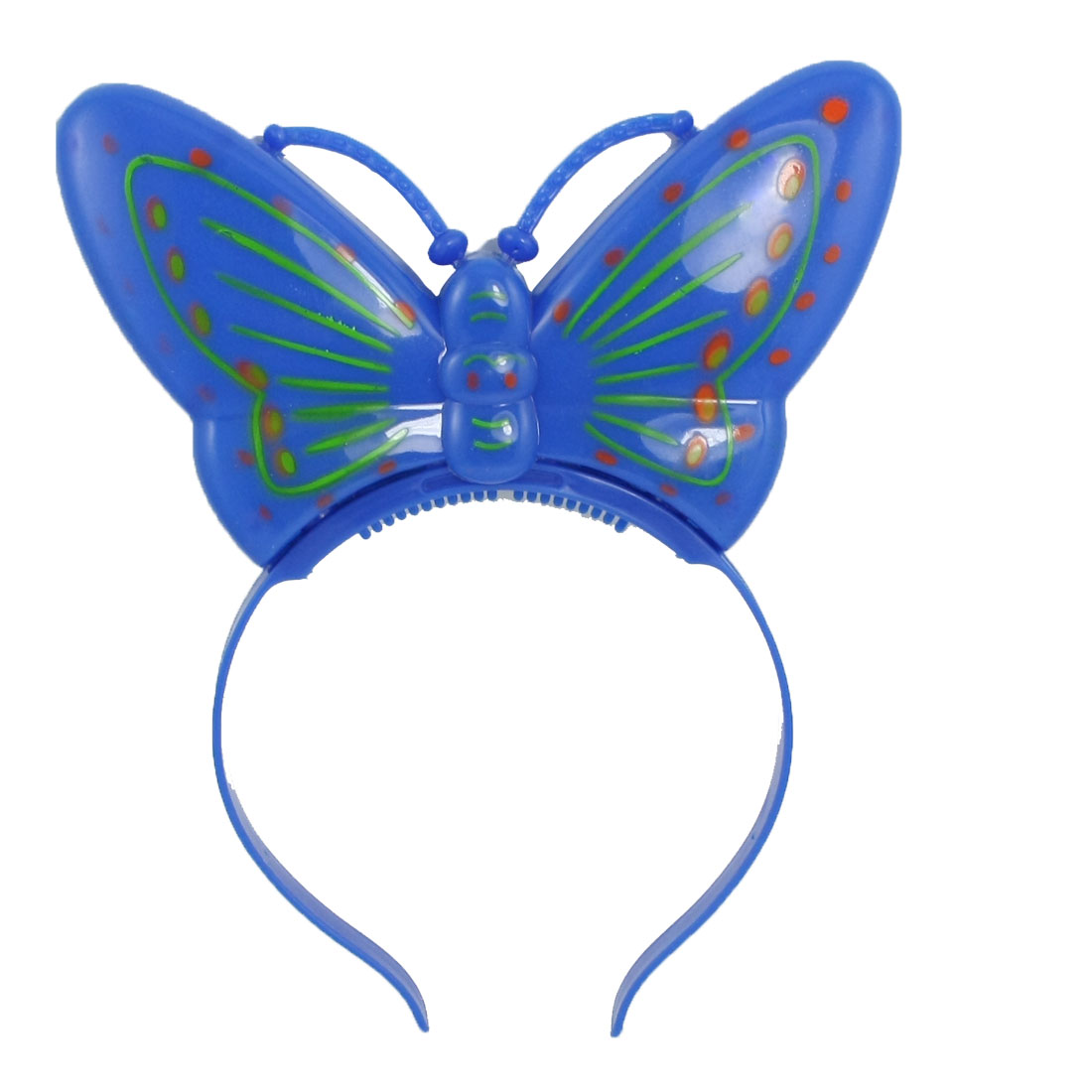 Butterfly Decor Red Blue LEDs Light Christmas Xmas Hairband Hair Band for