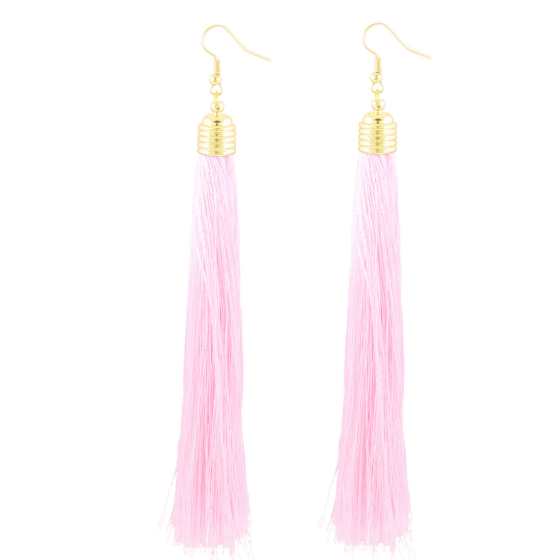 2 Pieces Fish Hook Dangling Earrings Pale Pink for Ladies