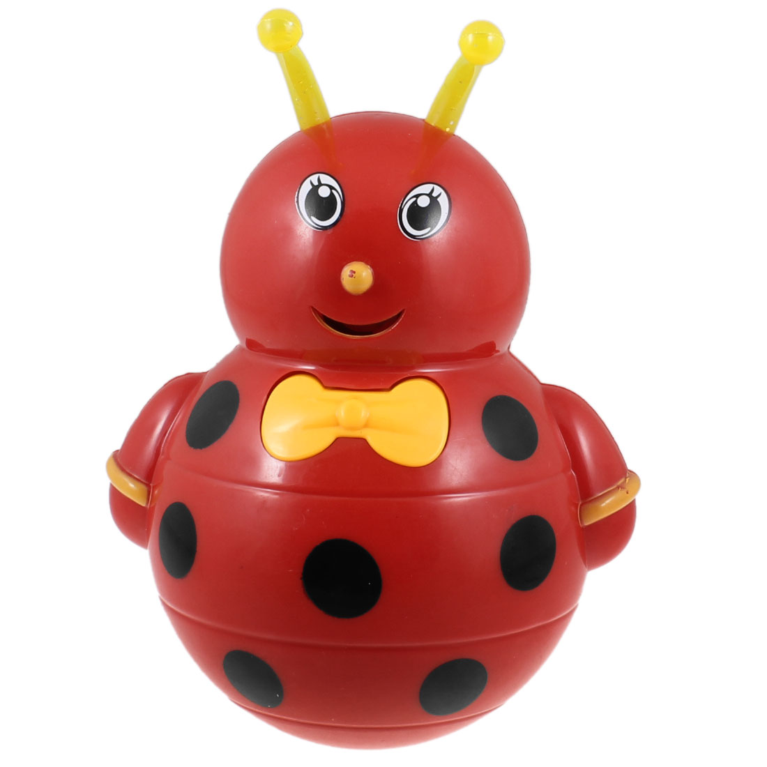 18cm High Red Black Plastic Honeybee Shaped Tumbler Toy for