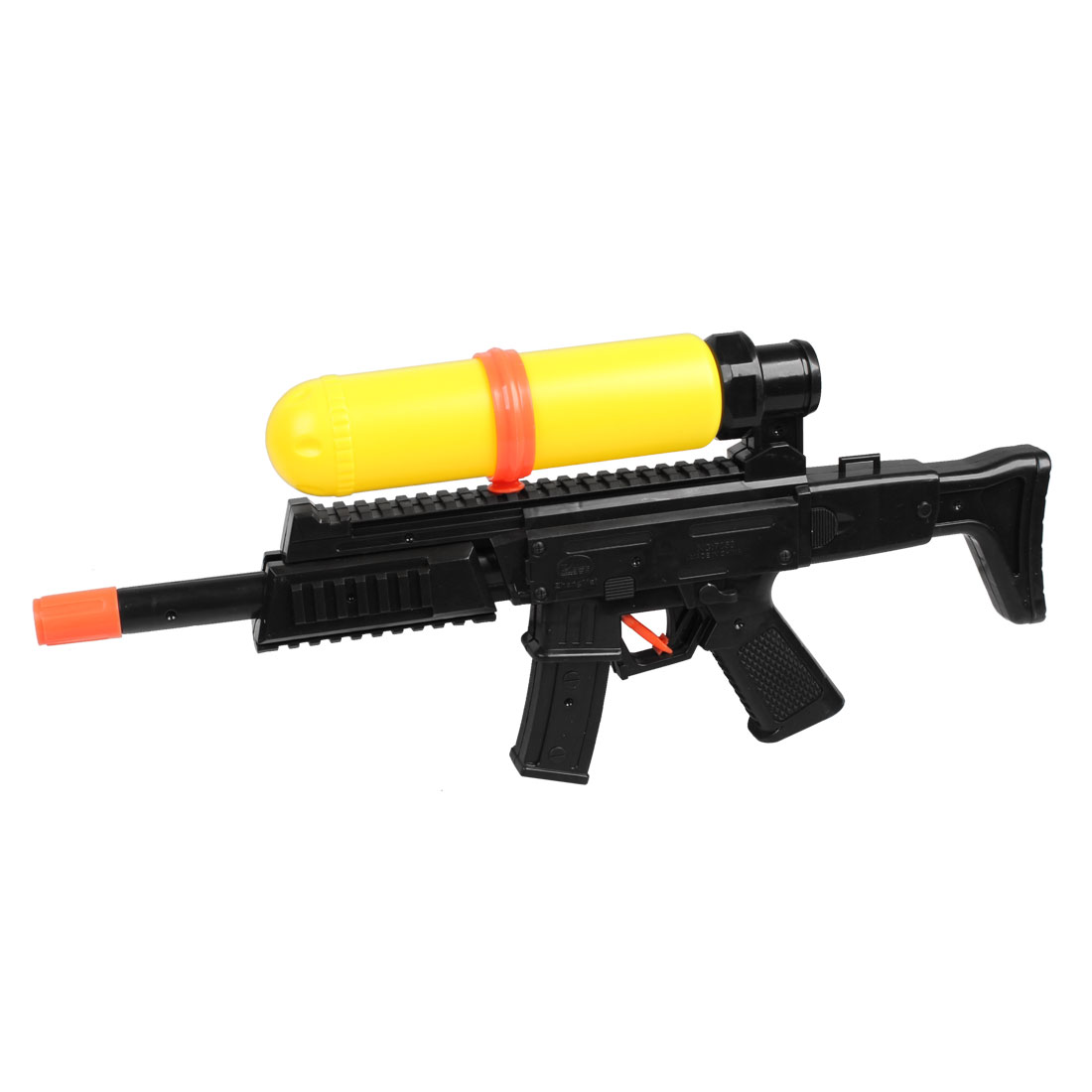 Black Yellow Plastic Single Nozzle Water Gun Squirt Toy for Children