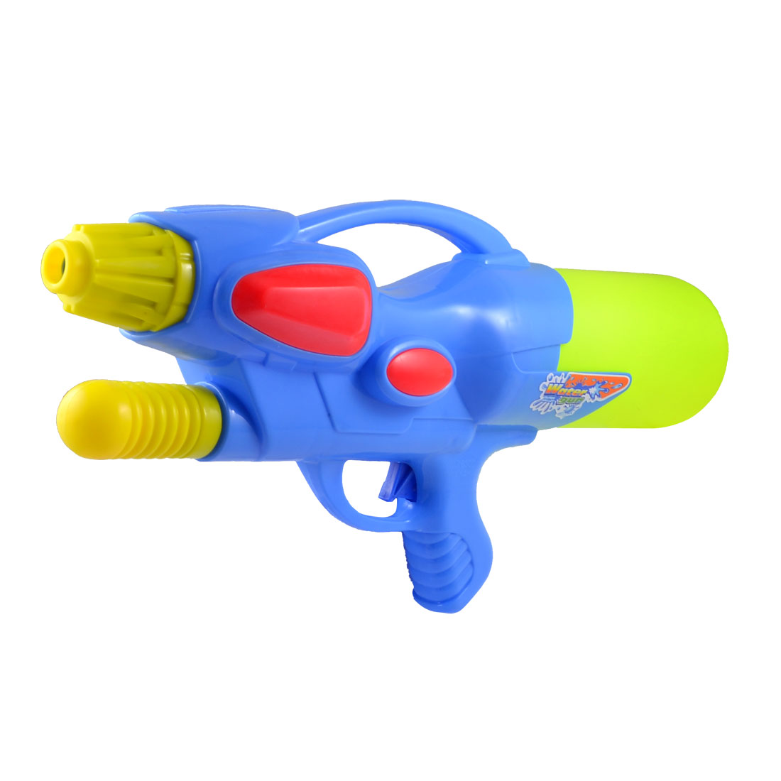 Yellowgreen Blue Plastic Hand Pump Air Pressure Water Gun Fight Toy for Child