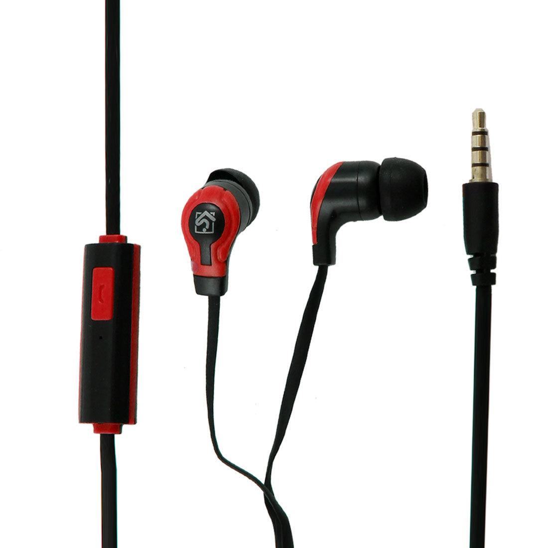 3.5mm Connector In Ear Stereo Headphone Earphone Red Black for PC MP3 MP4 DVD