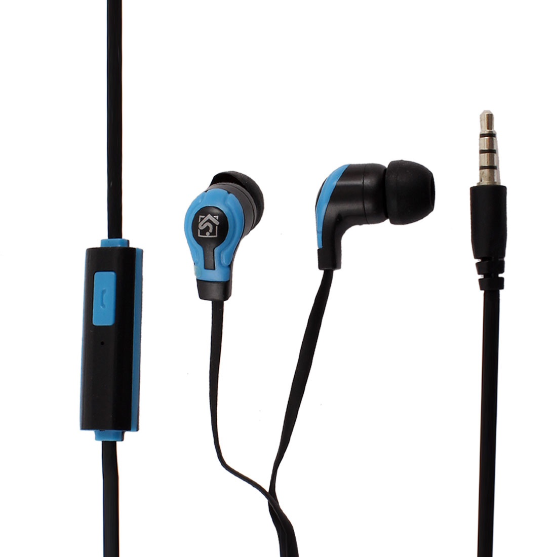 3.5mm Connector In Ear Stereo Headphone Earphone Blue Black for PC MP3 MP4 DVD
