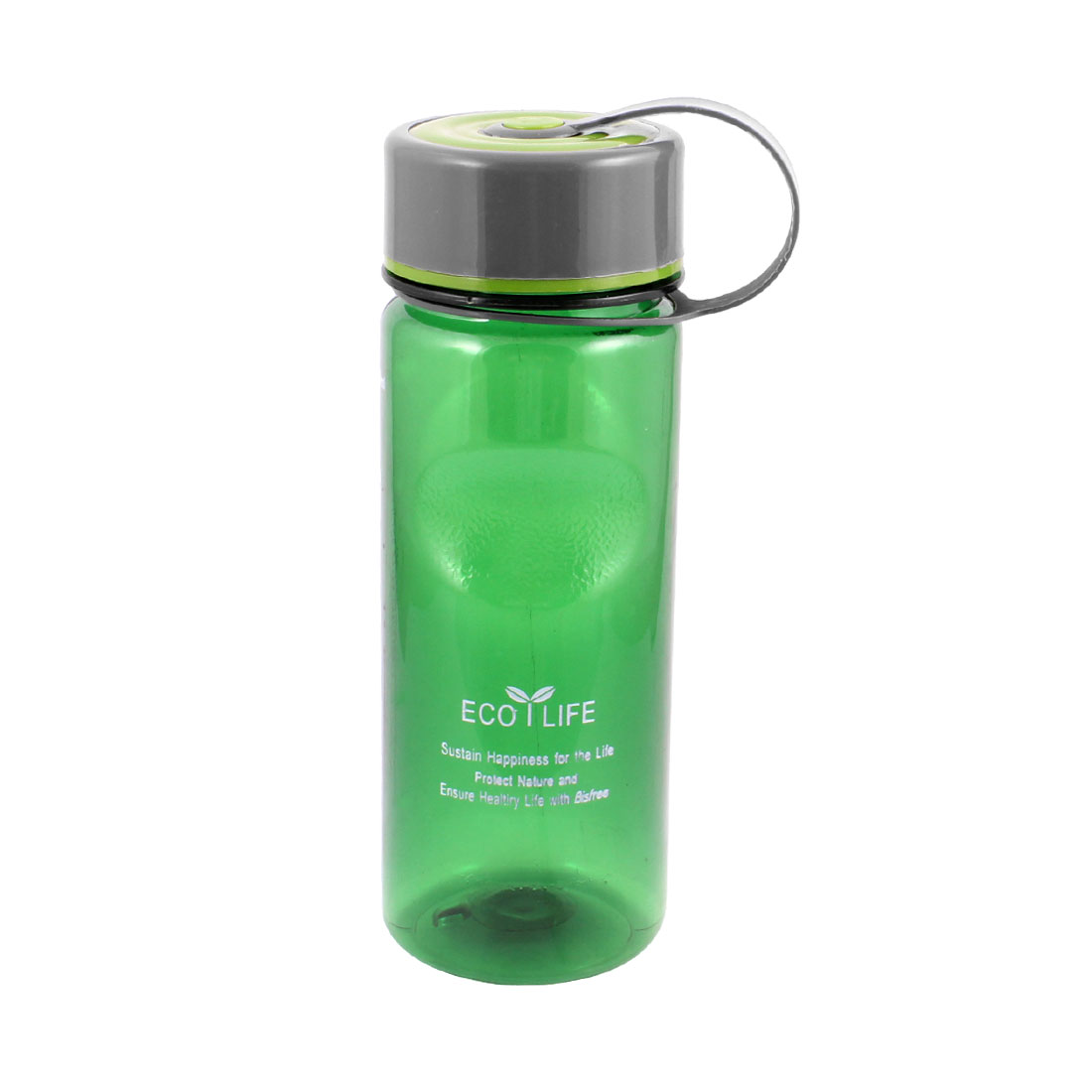 Portable Cylinder Shaped Clear Green Plastic Tea Water Drinking Cup 600ml