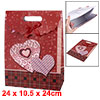 Bowknot Decor Detachable Closure Design Gift Present Bag Dark Red