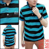 Men Single Breasted Buttons Striped Spring Fashion Shirt Black S
