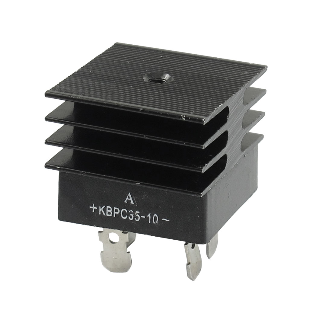 KBPC35-10 35A 1KV Single Phase Bridge Rectifier Half-Wave Black w Heatsink