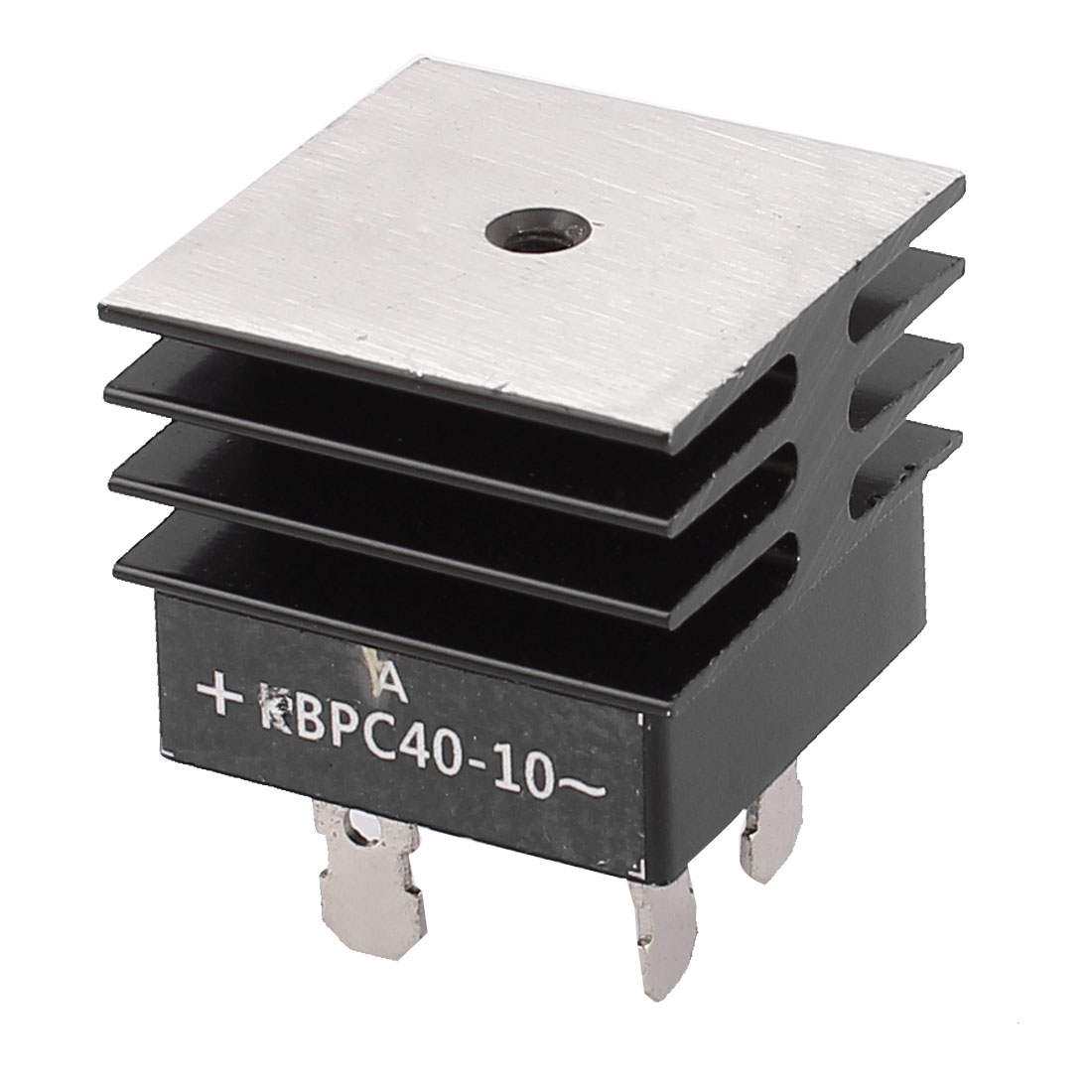KBPC40-10 40A 1KV Single Phase Bridge Rectifier Half-Wave Black w Heatsink