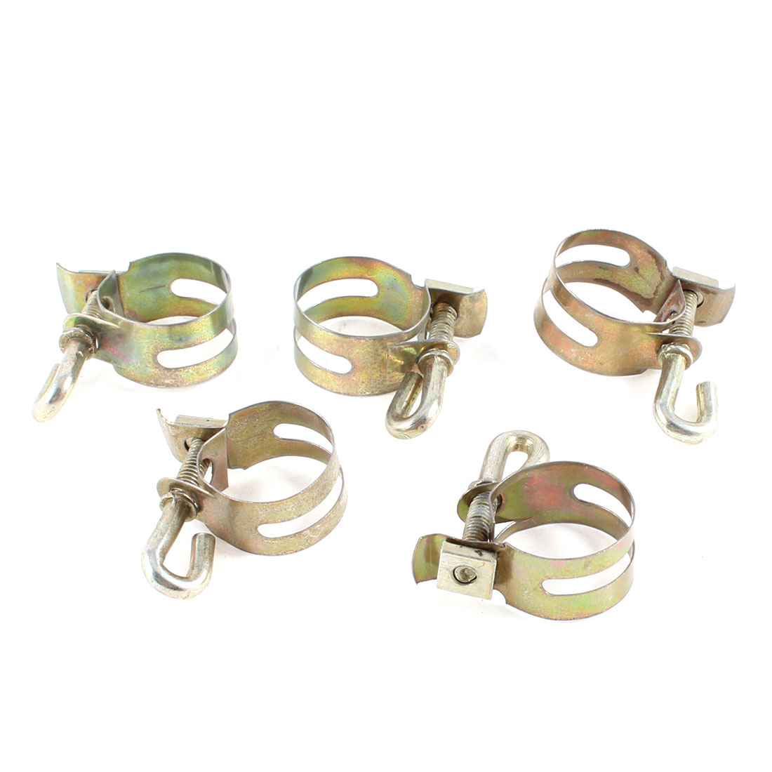 Gas Water Pipe Hose Tube Holder Metal Band Clamps 5 Pcs