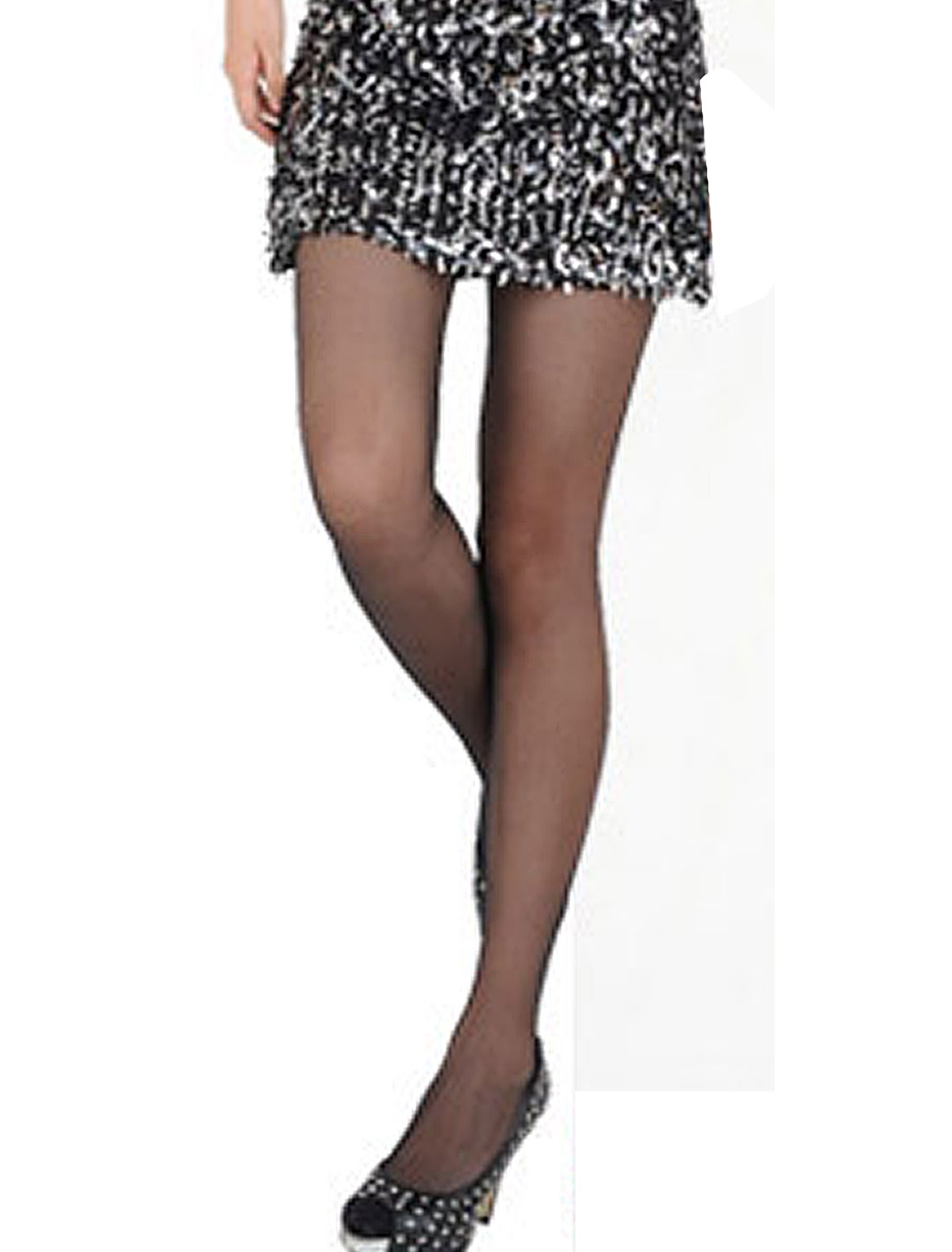 Rose Pattern Stretchy Summer Sexy Formfitting Pantyhose Tights Black for Women