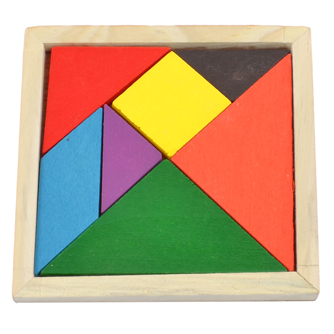 Colorful Wooden Puzzle Brain Training 7 Parts Geometry Tangram