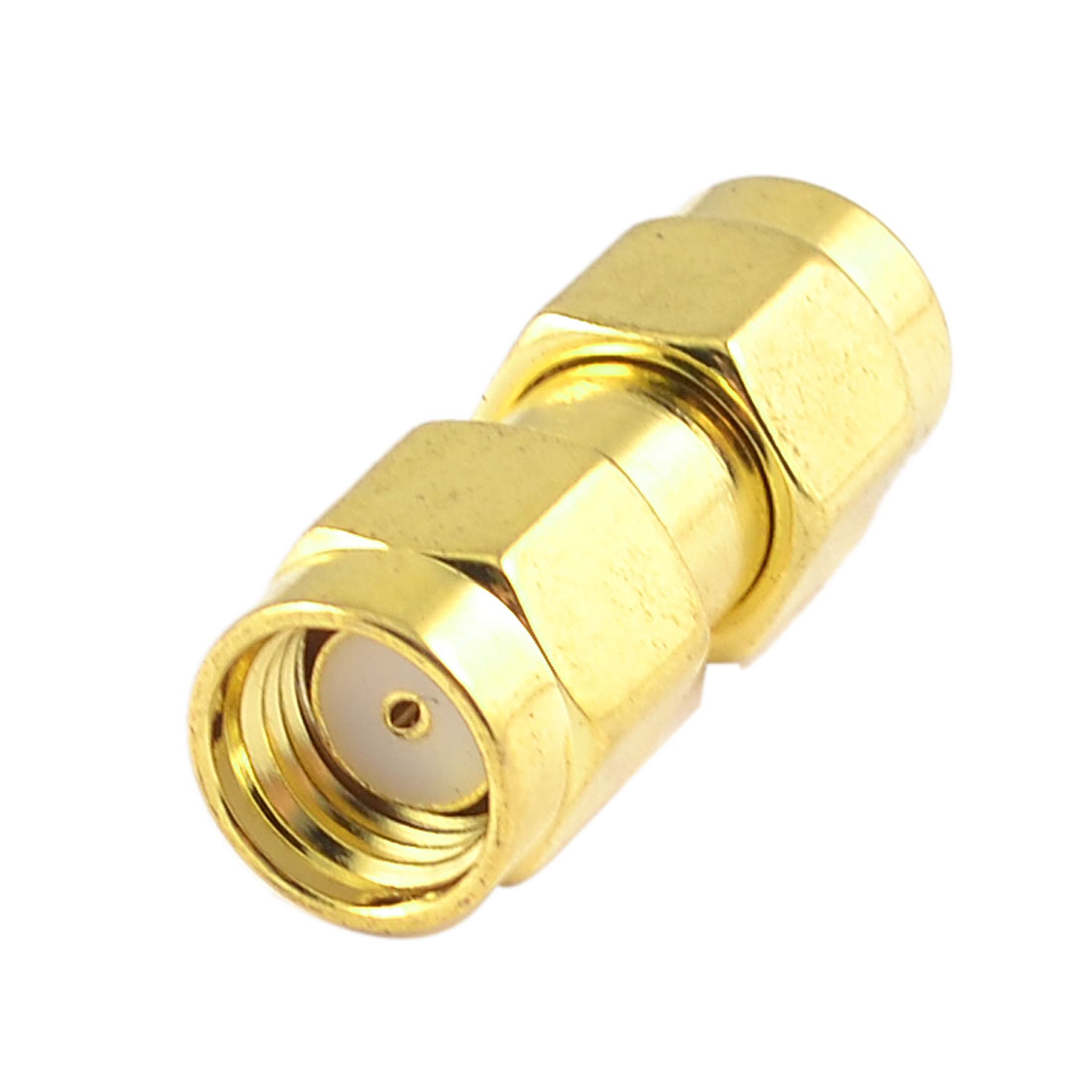 Gold Tone Straight SMA Female to Female RF Coaxial Adapter Connector