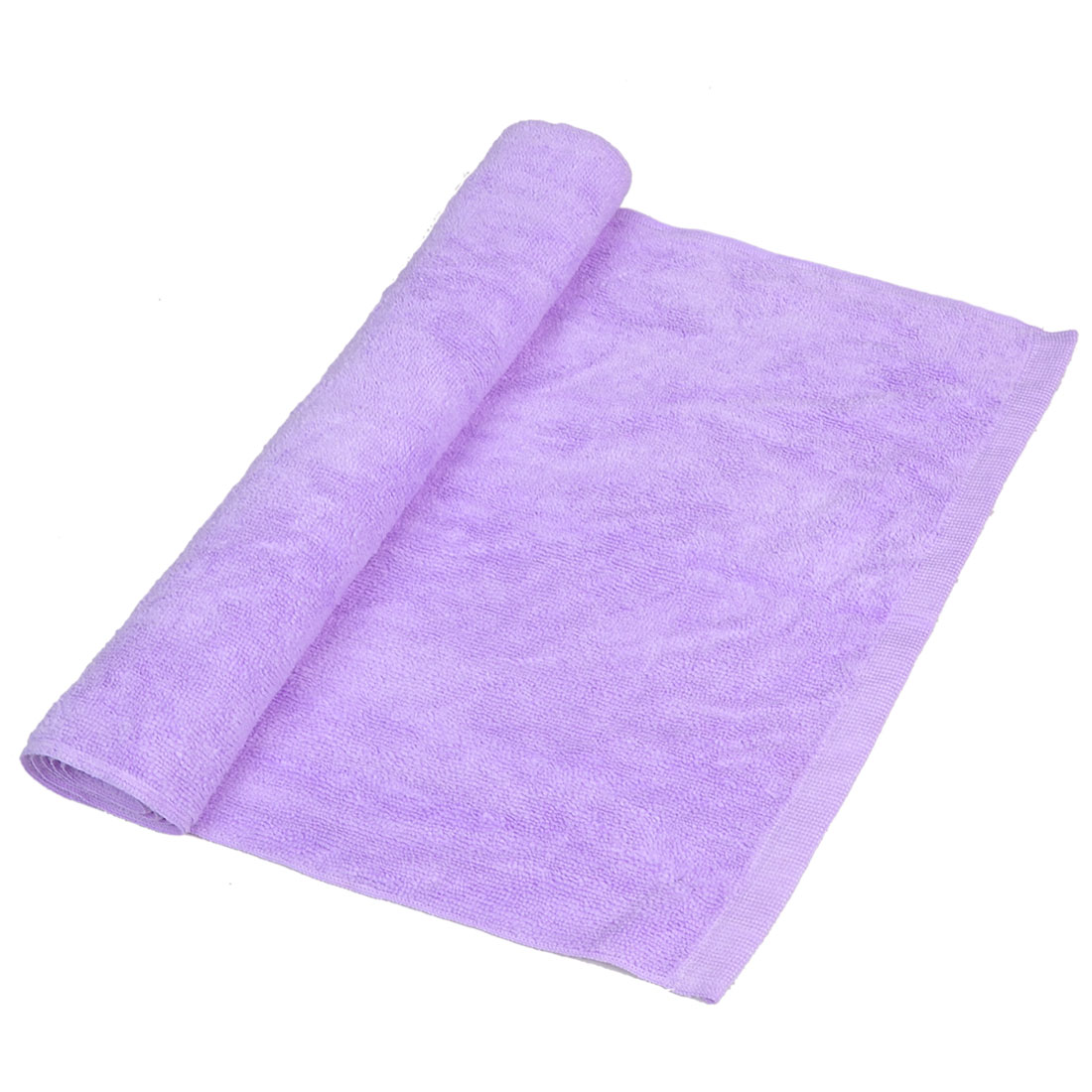 34cm x 78cm Purple Face Hand Bath Washcloth Hair Dryer Towel for Families Hotel
