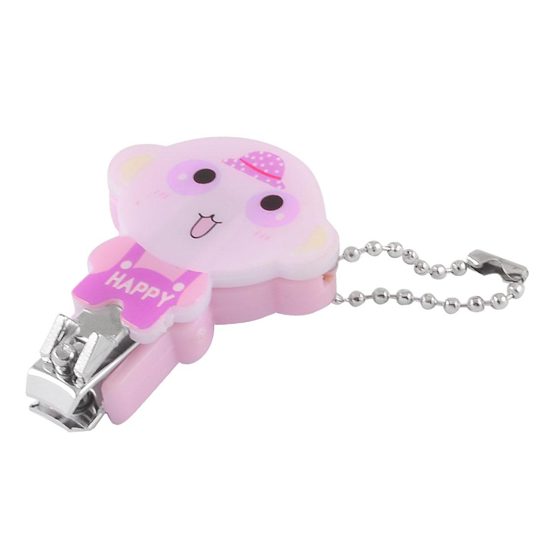 Pink Plastic Hat Cartoon Monkey Toe Cutter Nail Clipper Manicure