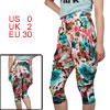 Summer Stylish Elastic Waist Colorful Cropped Pants XS for Women