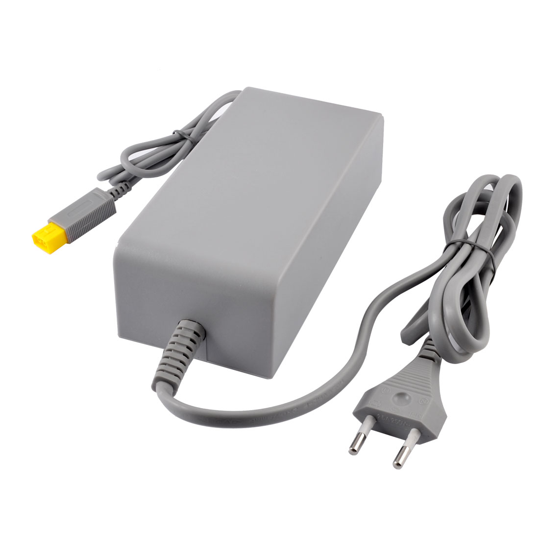 Gray Plastic Housing EU Plug AC Power Adapter for Nintendo Wii U Gamepad