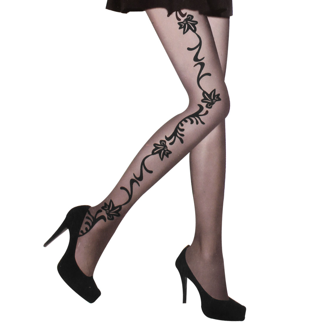 Ladies Thin Sheer Elastic Waist Tights Leggings Pantyhose Pants XS