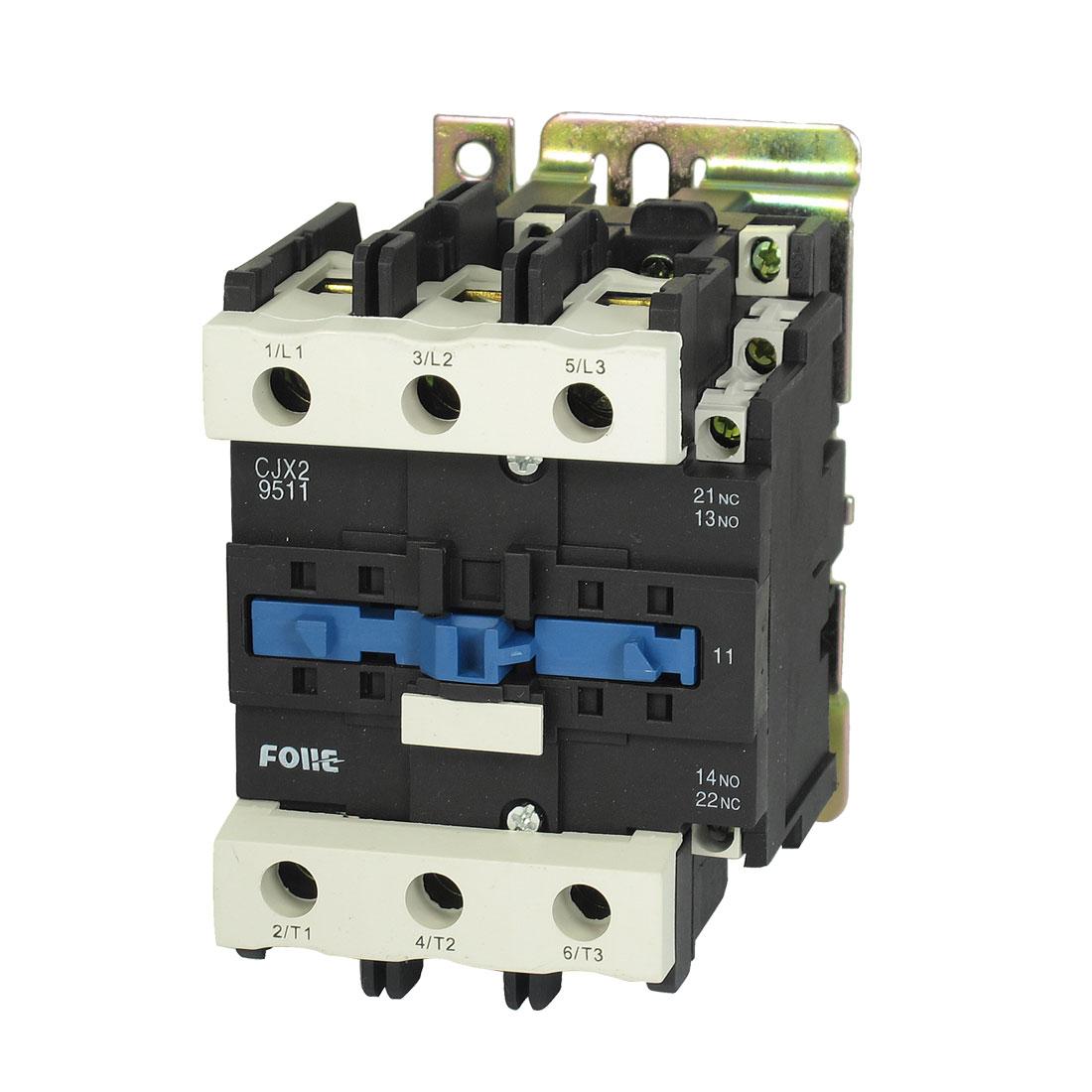 CJX2-9511 AC Contactor 220V 50/60Hz Coil 95A 3-Phase 3-Pole NO + NC