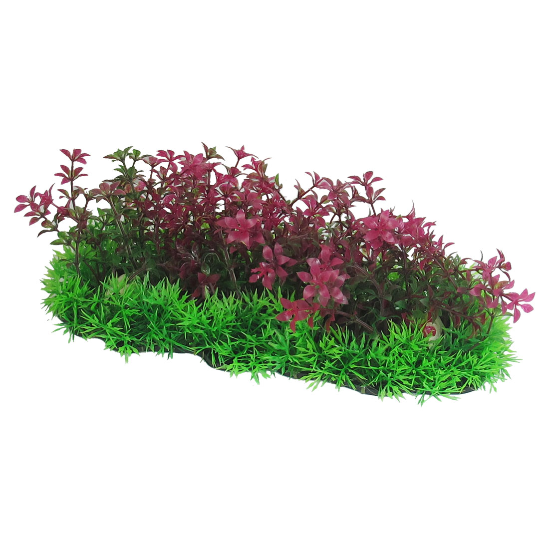 "3.9"" High Aritificial Underwater Fuchsia Green Plastic Grass for Fish Tank"