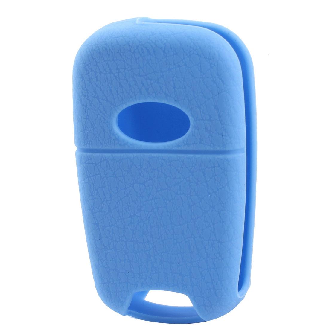 Soft Silicone AUTO Car Key Case Holder Fob Cover For Sportage Sky Blue