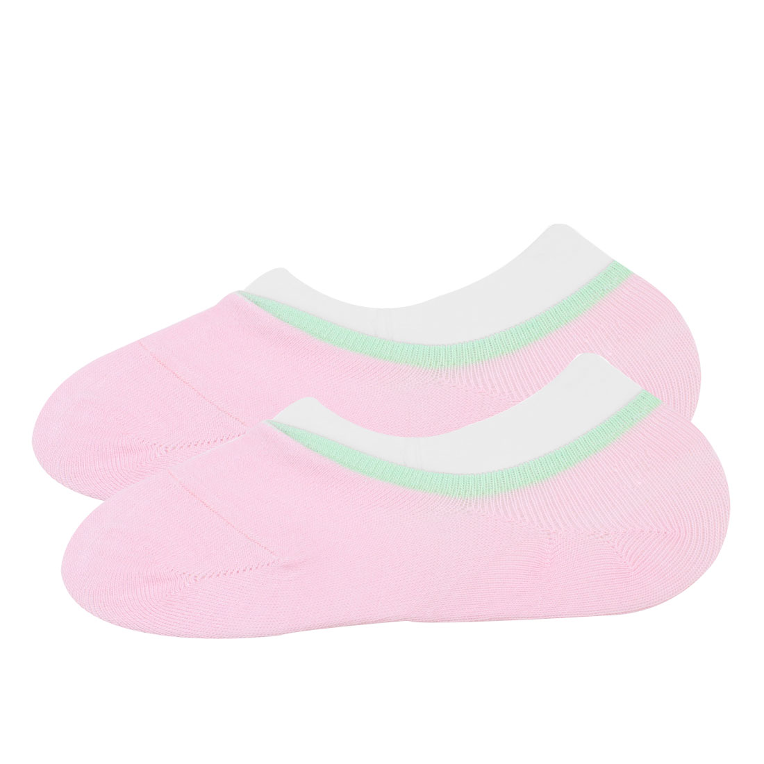 Children Girl Cotton Blends Stretch No Show Footsie Boat Socks Pink