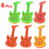 6 Pcs Multicolor Whistle Design Hand Shaking Bell for Kids
