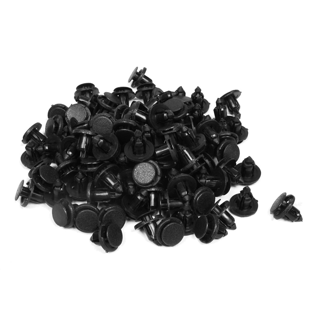 100pcs Auto Interior Push in Expanding Screw Plastic Rivets Black for 8mm Hole