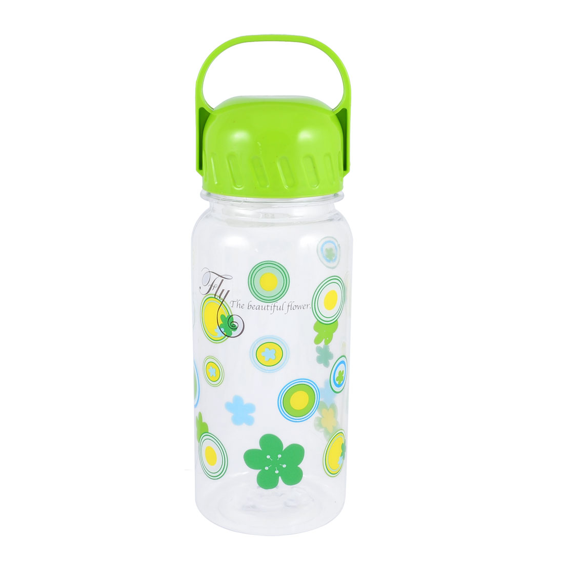 Handhold 630ml Capacity Green Clear Outdoor Spor Plastic Water Holder Bottle