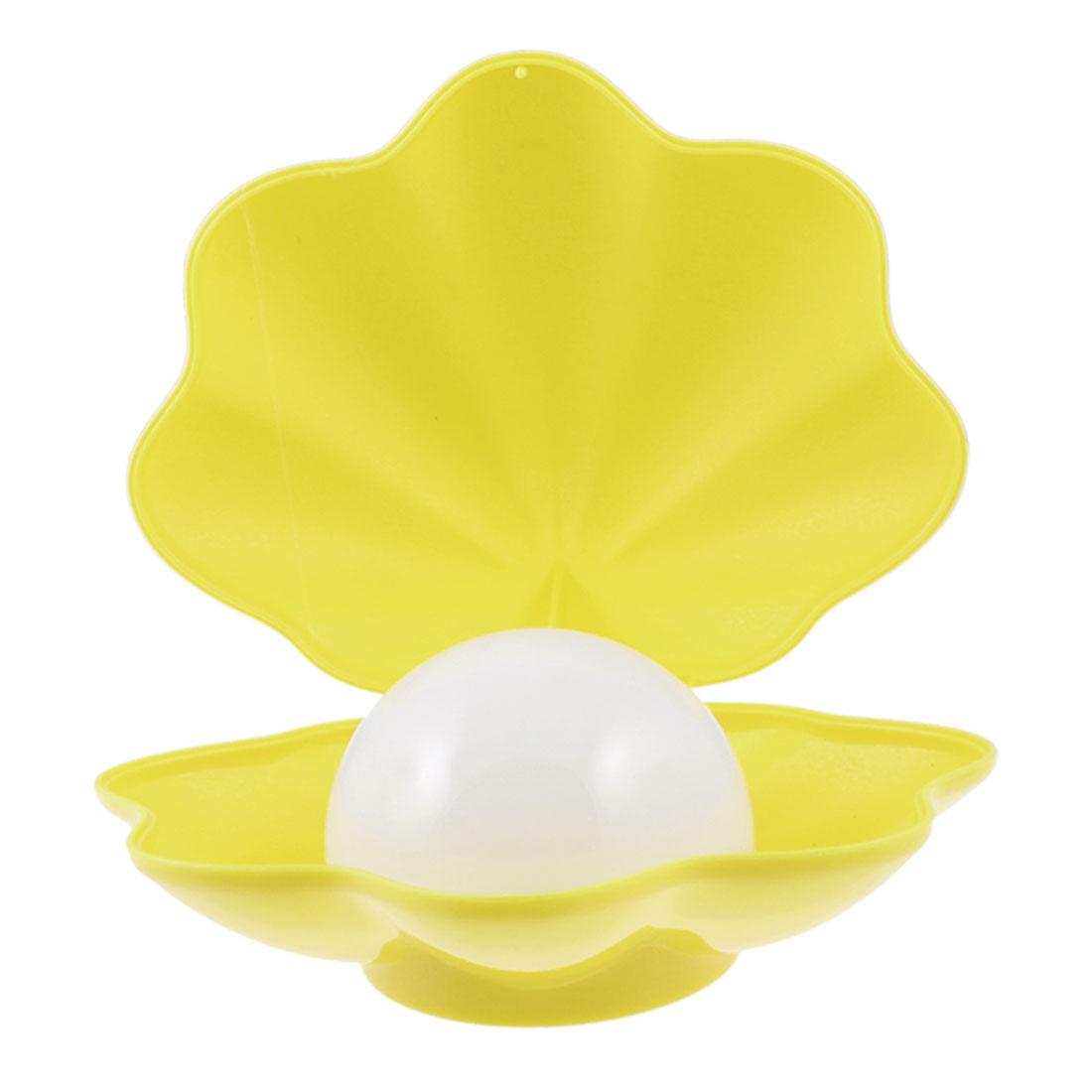 Plastic Conch Shells LED Night Light USB Nightlight Yellow