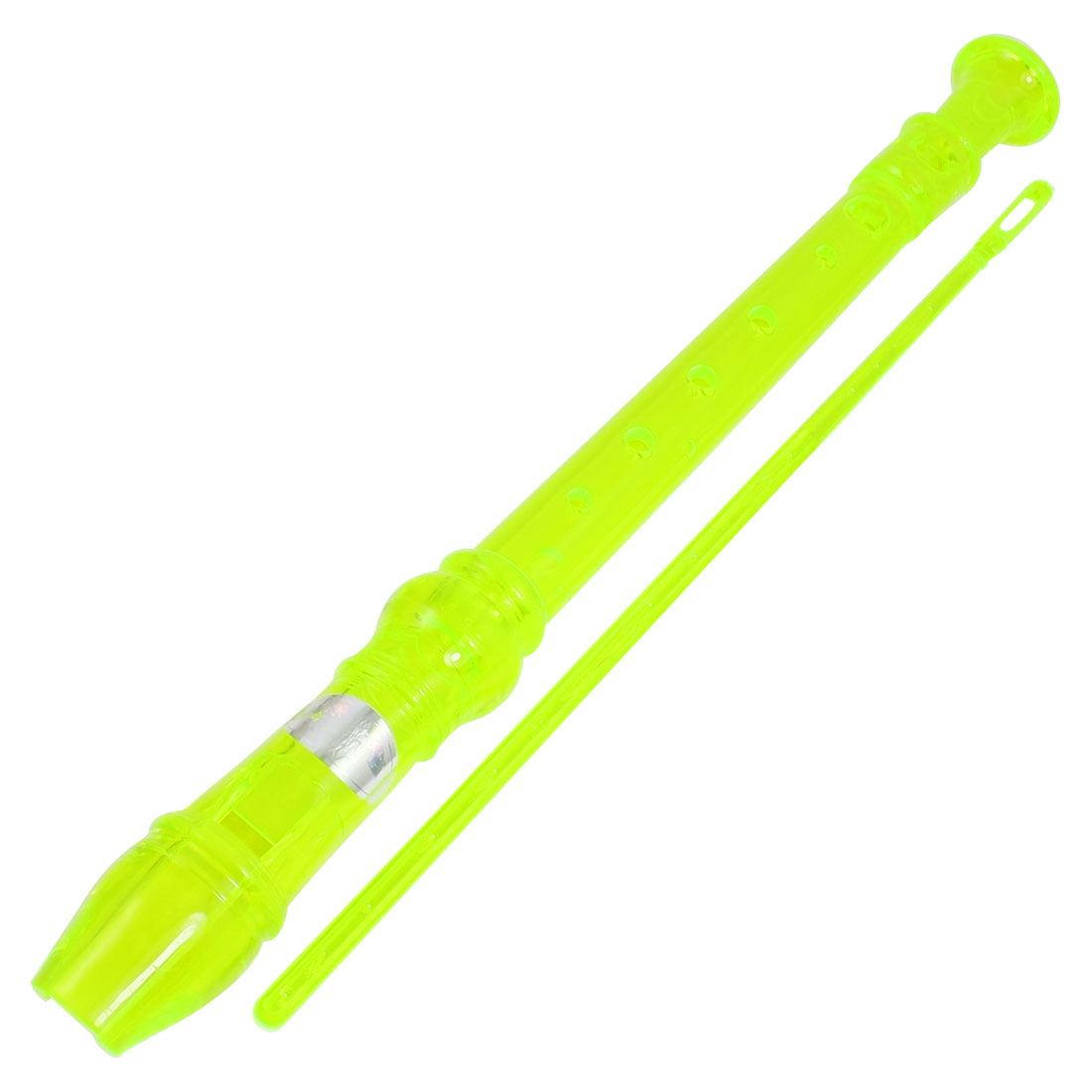 Students Yellow Green Plastic 8 Holes Soprano Flute Recorder Music nstrument