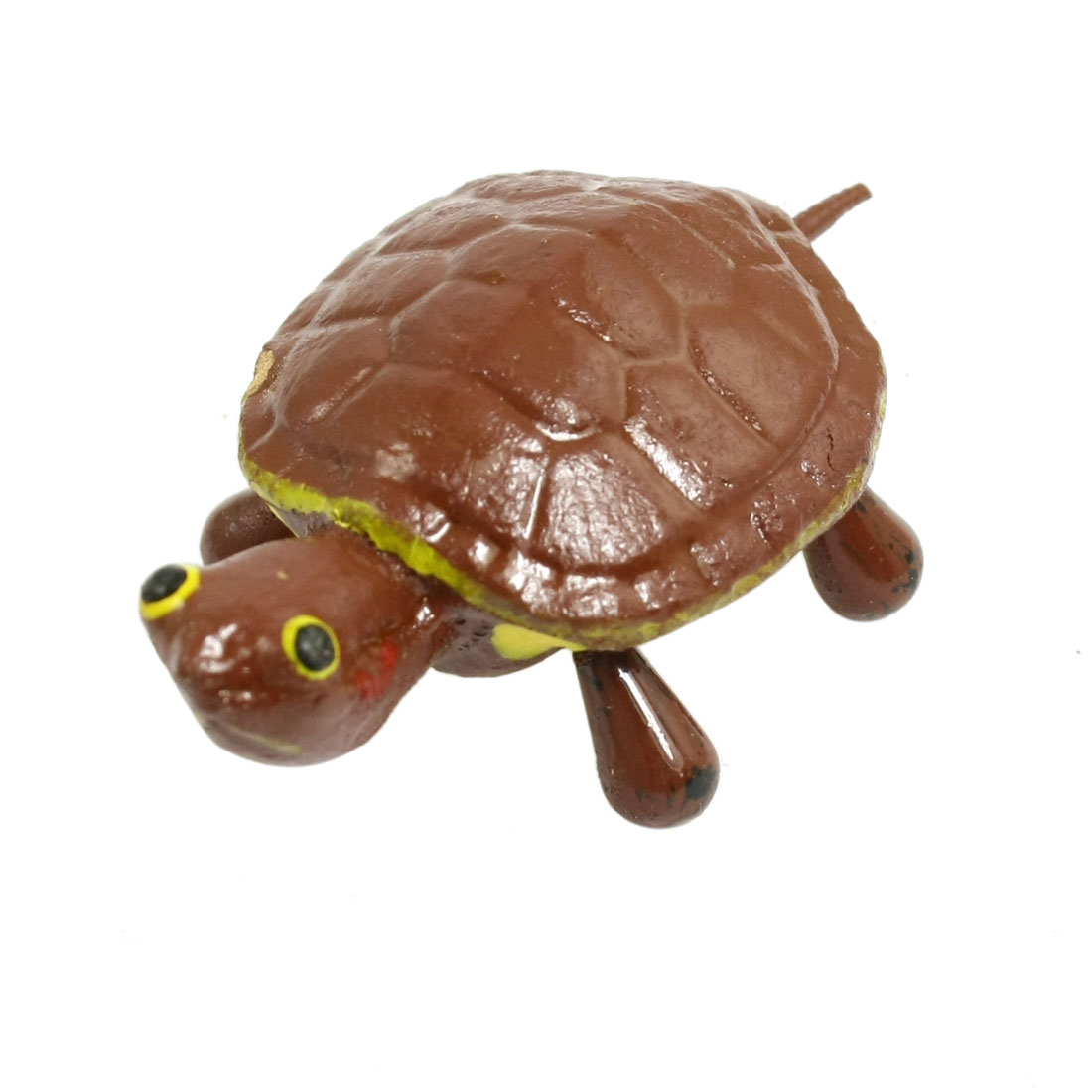Refrigerator Ornament Brown Ceramic Tortoise Design Magnetic Sticker