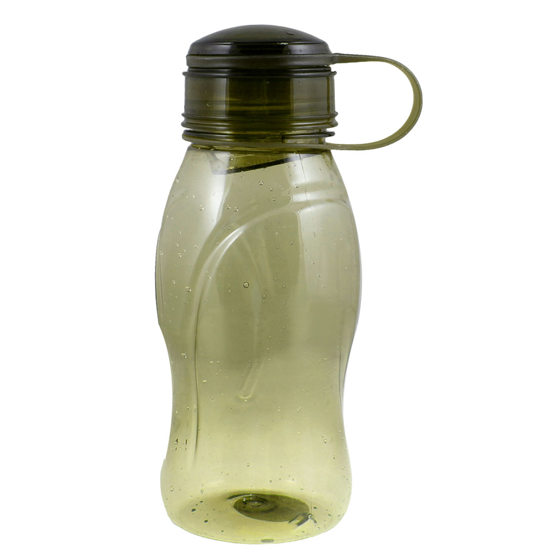 Clear Olive Green Cylinder Shape Hard Plastic Drink Bottle Cup 750ml