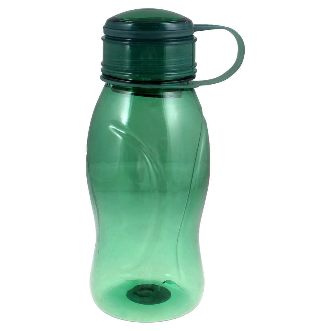Clear Seagreen Plastic Hand Strap Tea Water Drink Bottle Cup 750ml