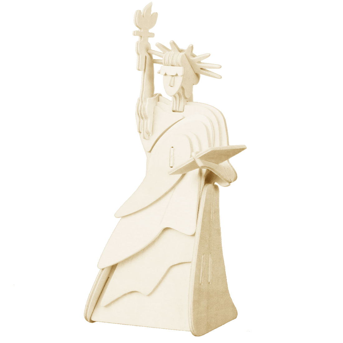 3D The Statue of Liberty Assembly Model Puzzle Toy Beige for Children