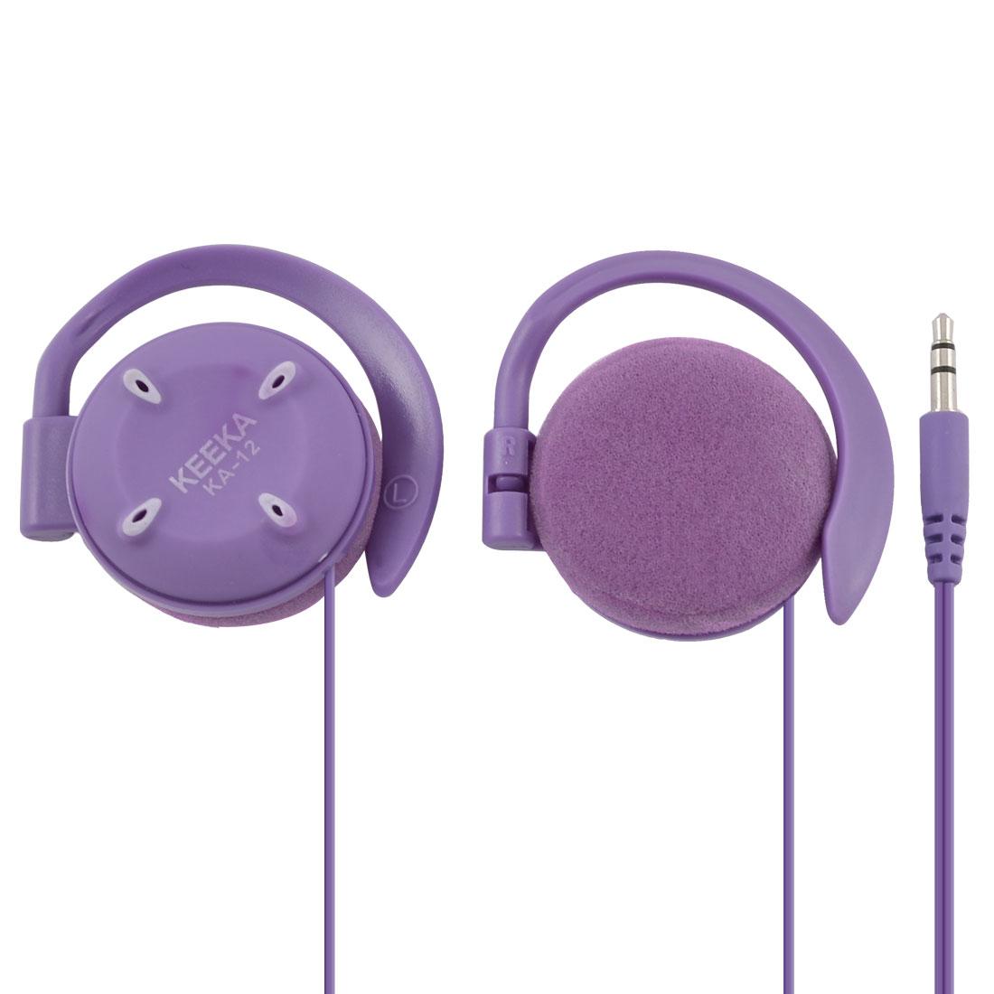 Authorized KEEKA 3.5mm Plug Stereo Bass Ear Hook Headphone Purple