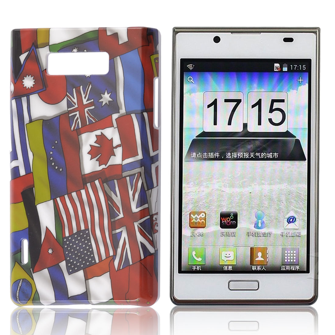 Multicolor National Flag IMD Hard Back Case for LG Optimus L7 P705